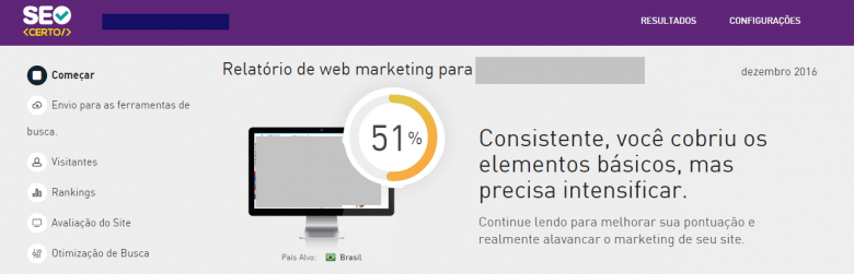 Ferramentas de SEO: Interface SEO Certo
