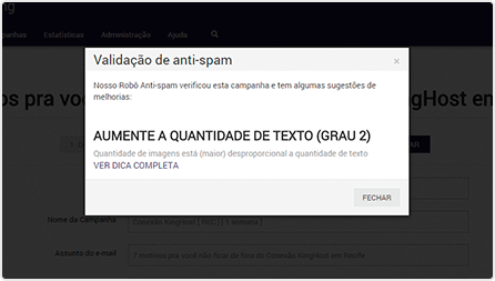 Email Marketing: Robô anti-spam