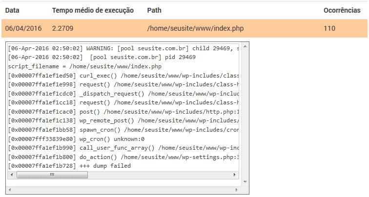 Configuração PHP - Slow Logs