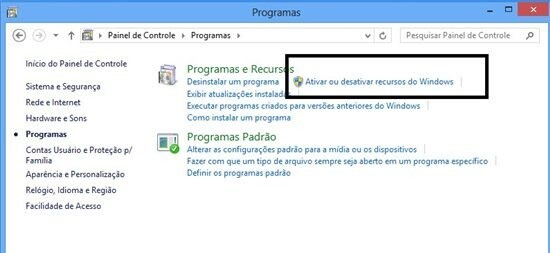 telnet no windows 8