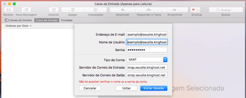 Apple Mail - Configuração IMAP