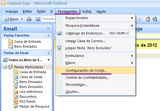Configurando o Outlook 2007