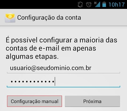 Configurar email no Android