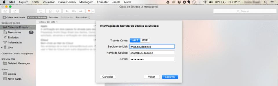 Configurando seu email no Mac