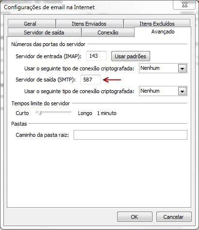 Configuração do Outlook 2010 - Passo 5