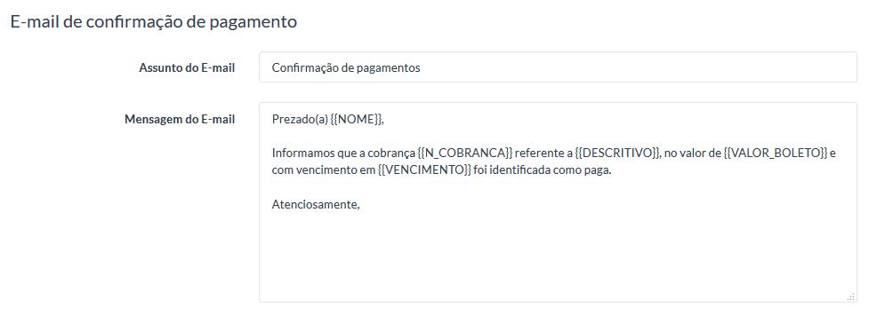 UniPago - Envio de cobrança por email