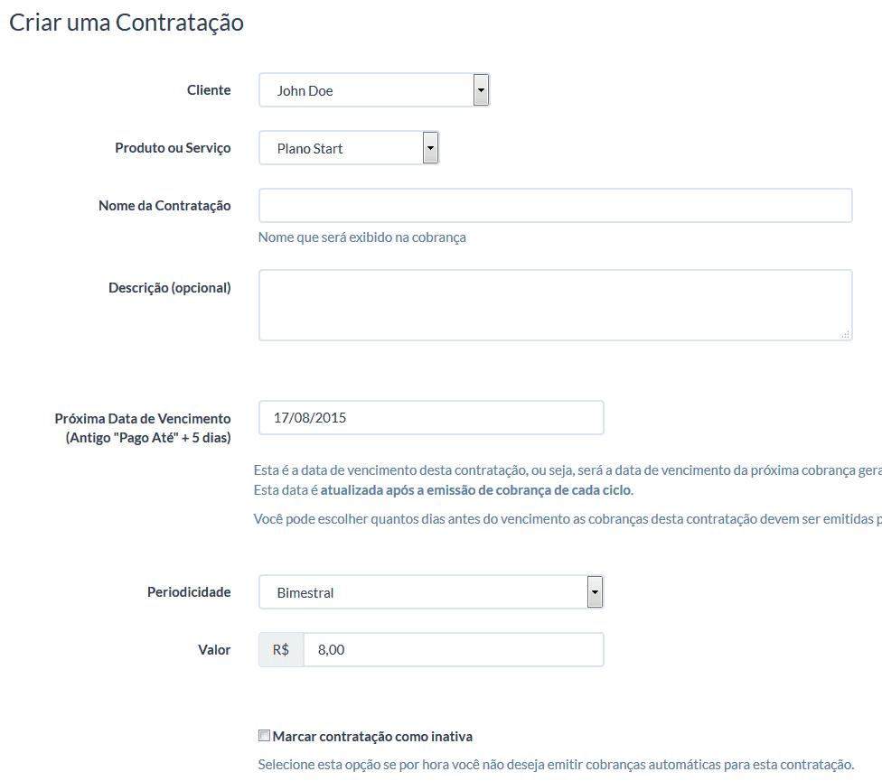 UniPago - Contratações