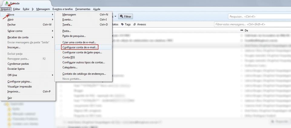 Configurar conta de email no Thunderbird