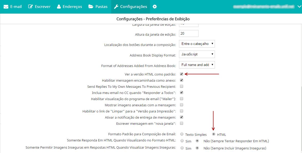 Assinatura de email no EnsigniaMail