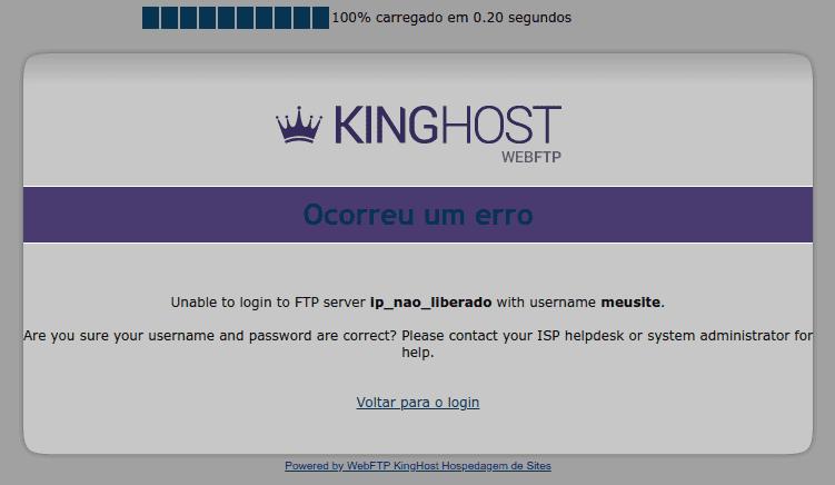 erro servidor_invalido on port 21