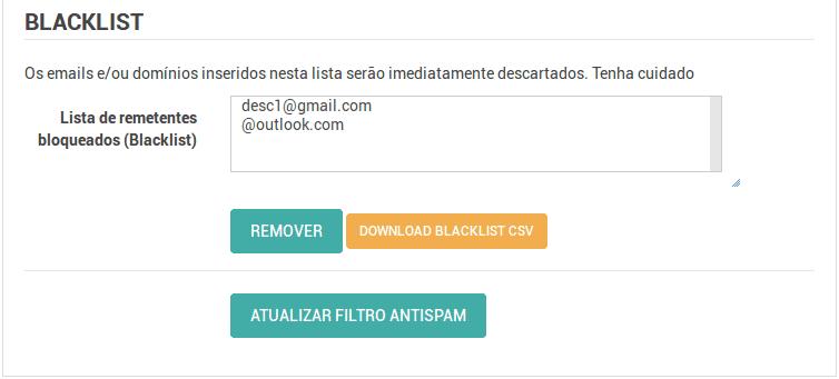Painel de Controle > Gerenciar Whitelist / Blacklist