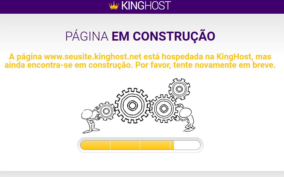 """Página de """"site em construção"""""""