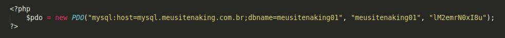 Exemplo de conexão ao MySQL utilizando PHP PDO