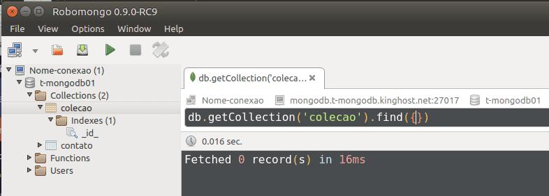 Como conectar um banco mongodb através do aplicativo