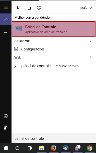 Windows > Painel de Controle