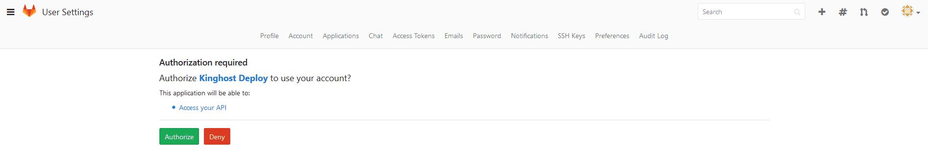 GitLab na KingHost - Integrando ao Painel de Controle