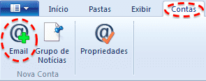 Configurar conta de email no Windows Live Mail
