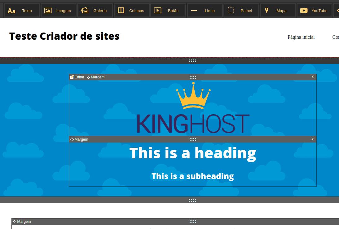 Como inserir imagem no Criador de Site