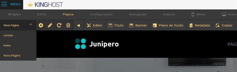 Como criar uma nova Página no Criador de Site