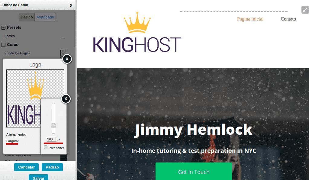 Adicionando sua Logomarca ao Criador de Site