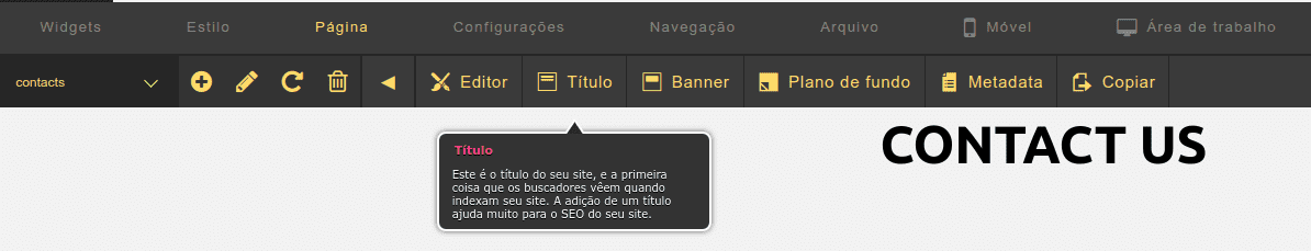 Criador de Site - Renomear uma página