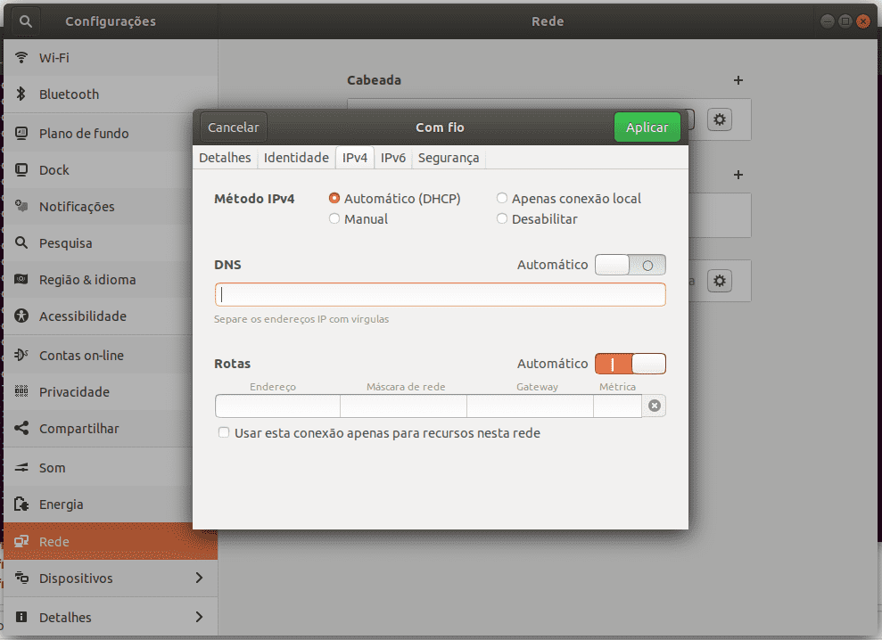Configurar DNS recursivo no Ubuntu