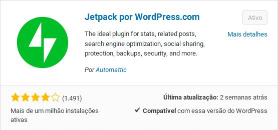 Configurar o plugin jetpack