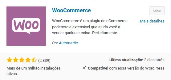 Plugin para loja virtual WooCommerce