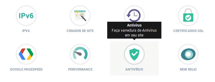 Painel de Controle KingHost - Antivírus