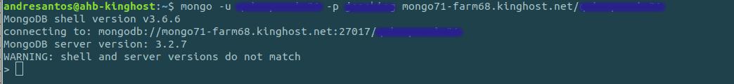 Conexão à uma base mondodb via shell