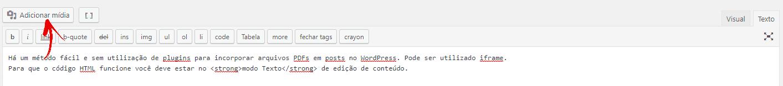 Adicionar arquivo de mídia no WordPress