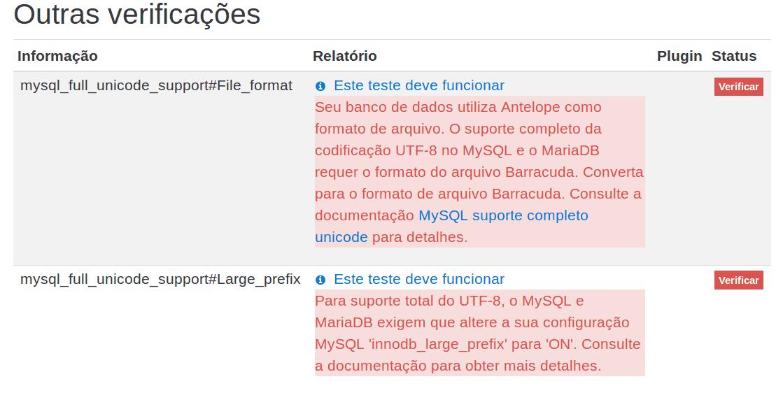Erro de instalação no Moodle 2.7 ou superiores