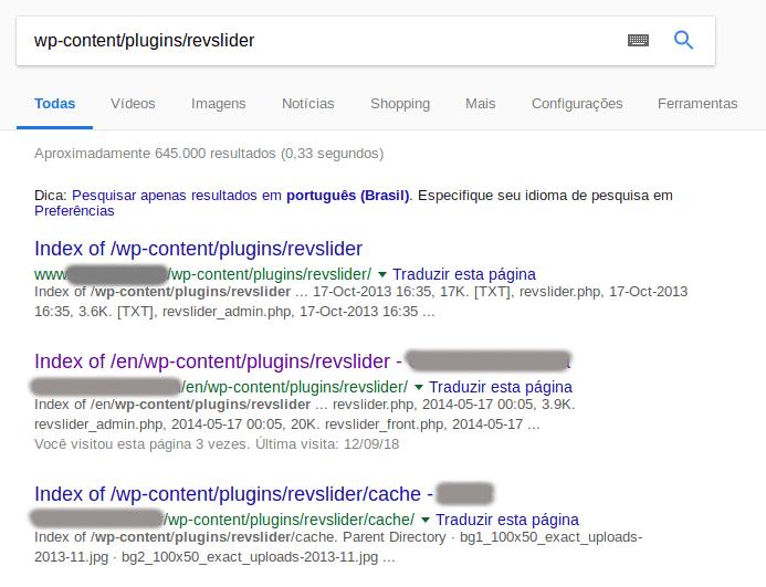 Exemplo de resultado sem o uso do robots.txt