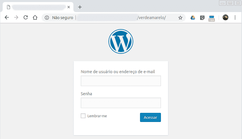 Login modificado no WordPress