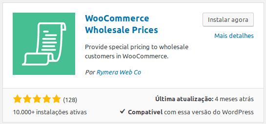 Plugin de wholesale - Preços por atacado