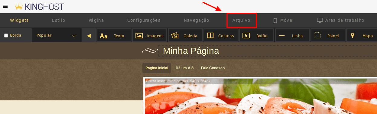 Como editar imagens no Criador de Site