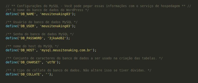 Definição de charset e collation no arquivo wp-config.php