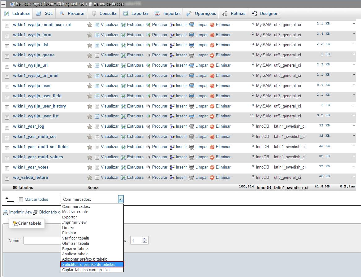 Alterar prefixo das tabelas no WordPress