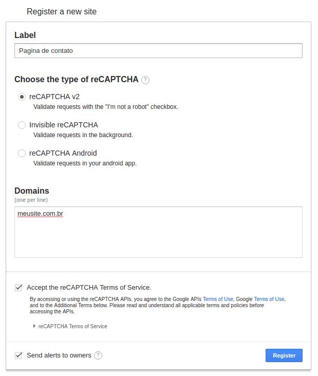 19ad82c930 reCaptcha no WordPress  Configuração no plugin Contact Form 7