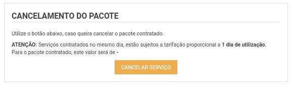 cancelamento do pacote adicional