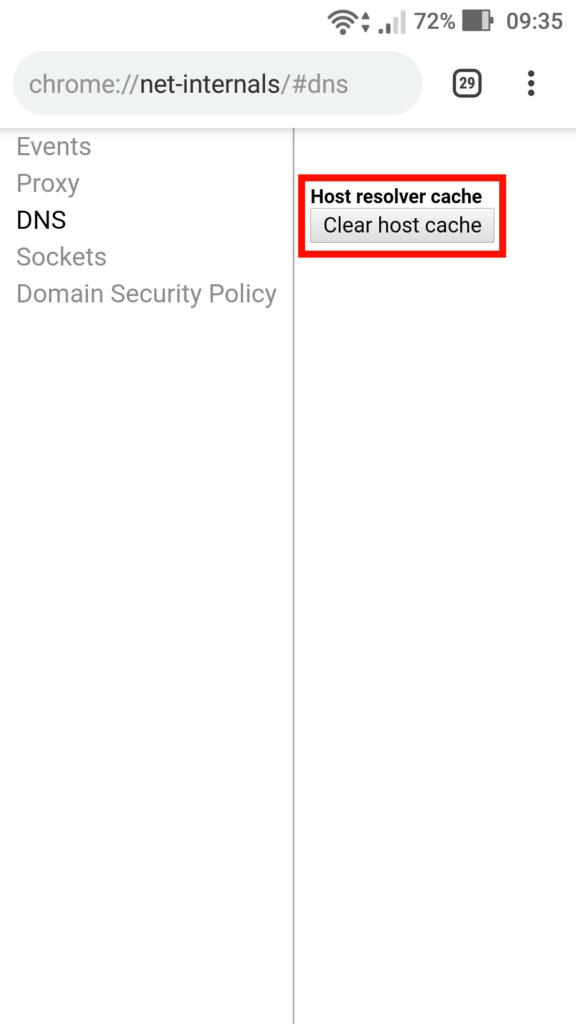 Limpando cache de DNS no Android.