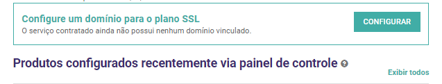 Esta opção permite configurar o certificado SSL.