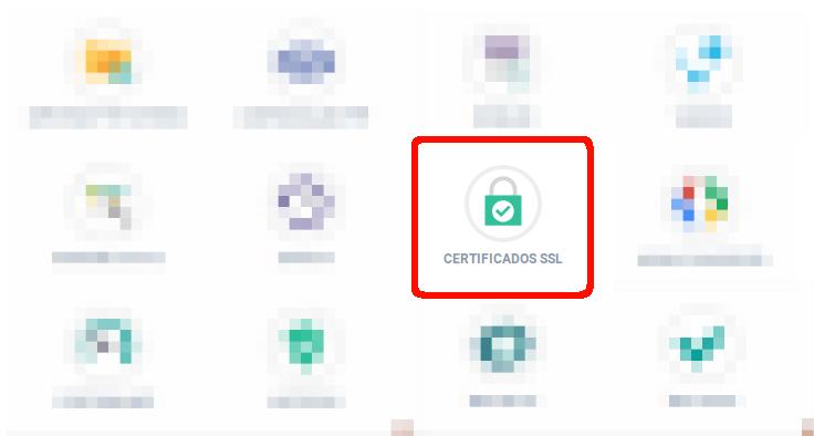 Como configurar o Certificado SSL SNI. Nesta imagem é exibido o painel de controle, onde deve-se acessar a opção Certificado SSL.