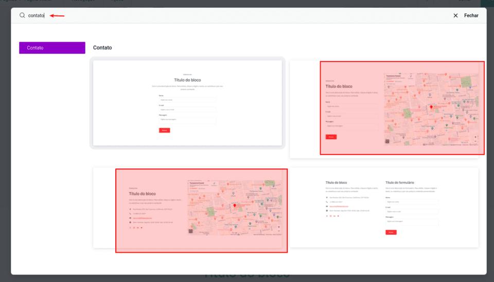 Adicionar Mapa no Criador de Sites
