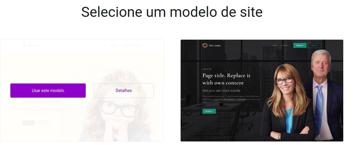 template para o Criador de Sites