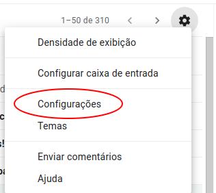 Ajustar conta configurada no Gmail