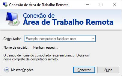 VPS Windows, abrindo a ferramenta área de trabalho remota.