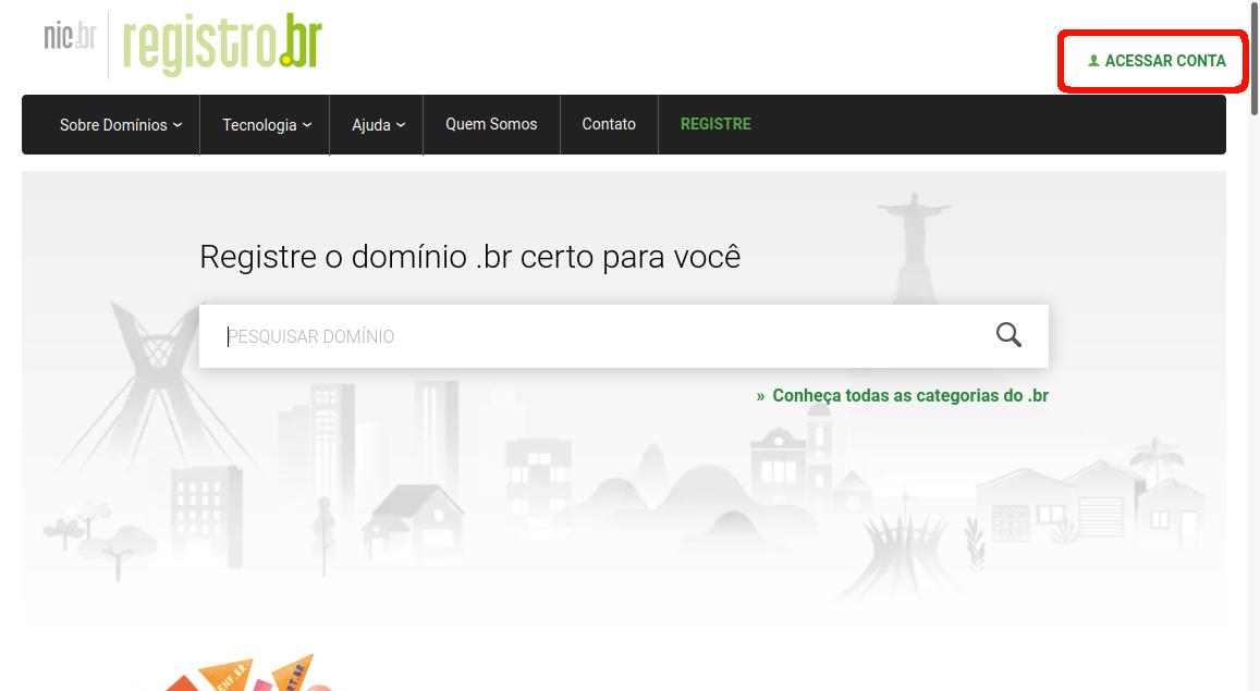 Como alterar Provedor de registro de domínio. Acessando o site da registro.br.