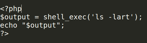 shell_exec
